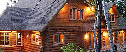 le bois chalet de bois rond chalet de type scandinave ossature bois poteau poutre. Black Bedroom Furniture Sets. Home Design Ideas