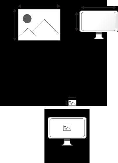 Une image projetée sur un écran tient compte de la définition de l'écran