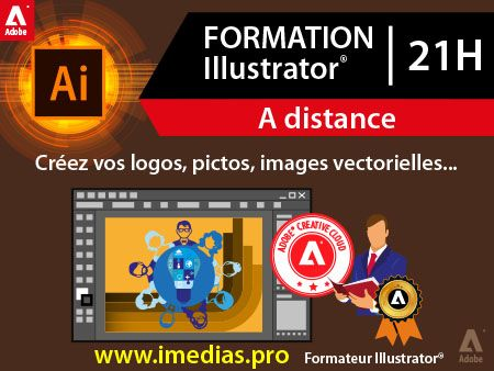 Formation Adobe Illustrator débutant (niveau 1) - 21h  - à distance