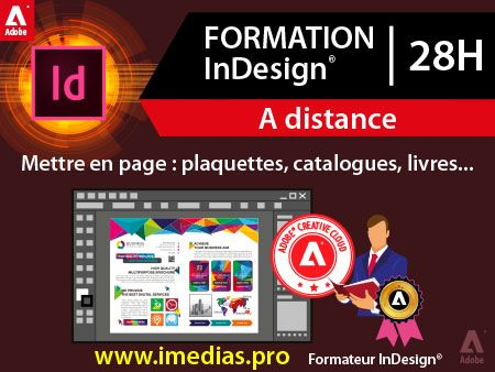 Formation Adobe InDesign débutant (niveau 1) - 28h  - à distance