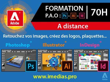 Formation Adobe (P.A.O.) débutant (niveau 1) - 70h  - à distance