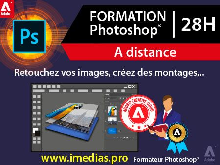 Formation Adobe Photoshop débutant (niveau 1) - 21h - à distance