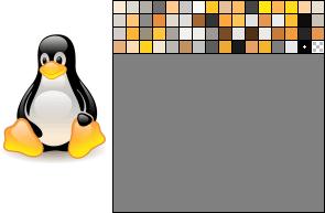 Image enregistrée au format Png-8 bits palette 64 couleurs