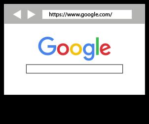 Accès au moteur de recherche Google