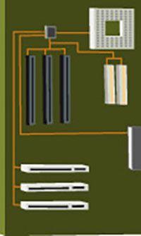 Carte mère d'un ordinateur (circuit imprimé)