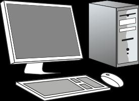 Ordinateur personnel - PC : écran, clavier, souris, unité centrale