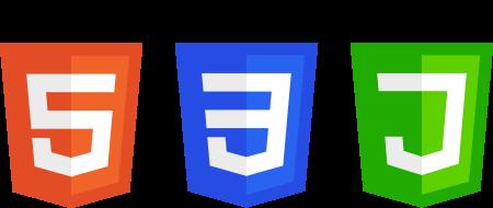 Langage HTML, langage CSS, langage JavaScript