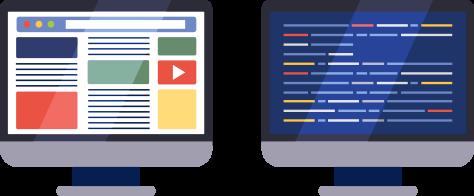 Page web rendu visuel et Code Source
