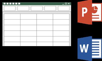 exporter pour Word ou PowerPoint un tableau Excel
