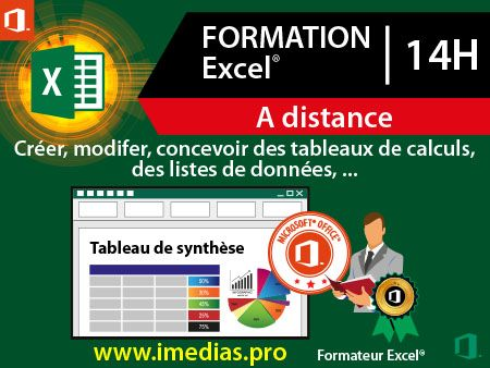 Formation Excel débutant (niveau 1) - 14h  - à distance