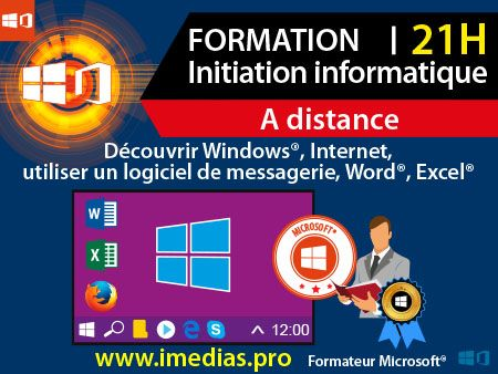 Formation initiation à l'informatique - 21H - à distance