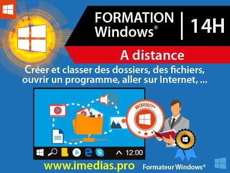 Formation Windows 10 - 14h  - à distance