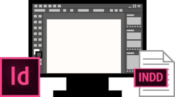 Interface Adobe InDesign