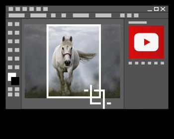 Script d'action de recadrage d'une image avec Photoshop