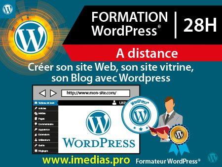 Formation WordPress - 28h  - à distance