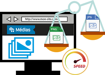 Médias - images : format vitesse de chargement